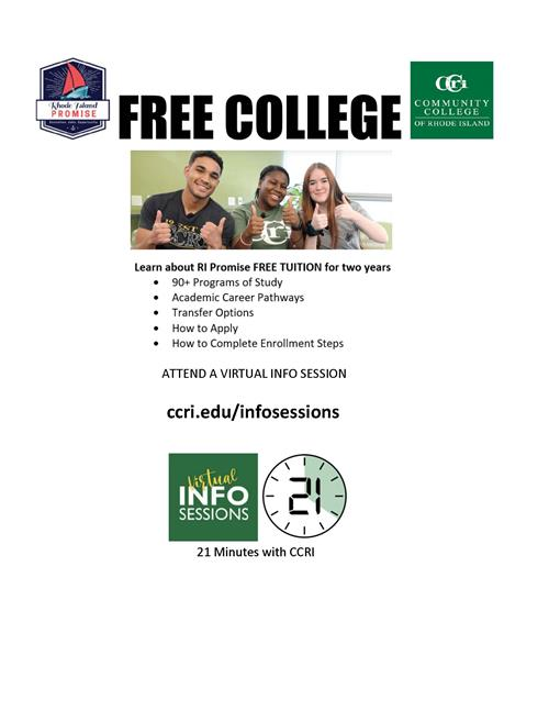 Free college, learn about RI Promise FREE TUITION for two years