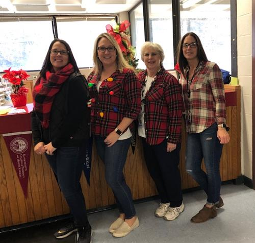 The guidance counselors on flannel day.